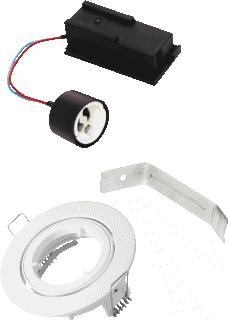 BAILEY DOWNLIGHT KIT GU10 IP44 WIT