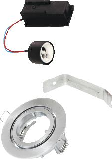 BAILEY DOWNLIGHT KIT GU10 IP44 ALUMINIUM