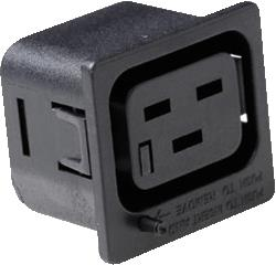 IEC LOCK NET-ENTREES SOCKET C19 ZWART