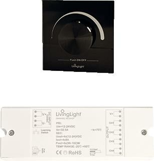 LIVING LIGHT DIMWHEEL CONTROLE BLACK SET