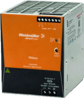 WEIDMULLER VOEDING PRO ECO3 24V/480W/20A