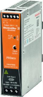 WEIDMULLER VOEDING PRO ECO 12V/72W/6A