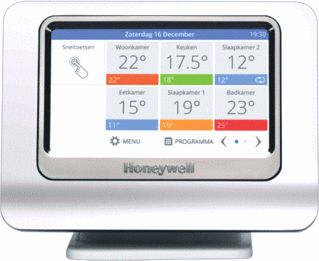Honeywell evohome WiFI thermostaat bedieningspaneel
