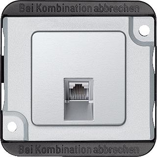 SCHNEIDER ELECTRIC M RJ45 ENKELVOUDIG CAT 5-UAE-BASIS ALUMINIUM ANTI-VANDALISME