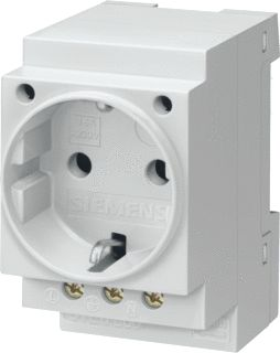 SIEMENS SCHUKO SOCKET 16A ACCORDING TO DIN VDE 0620 FOR INSTALL. IN DISTRIB. BOARDS